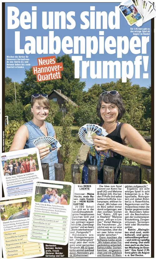 Bild Zeitung Hannover vom 25.07.2018
