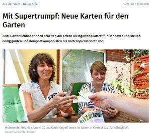 Hannoversche Allgemeine Zeitung vom 15.05.2018